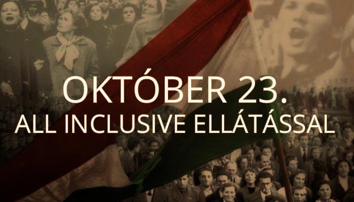 Október 23. all inclusive ellátással