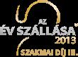 az év szállása 2013. szakmai díj 3. helyezés